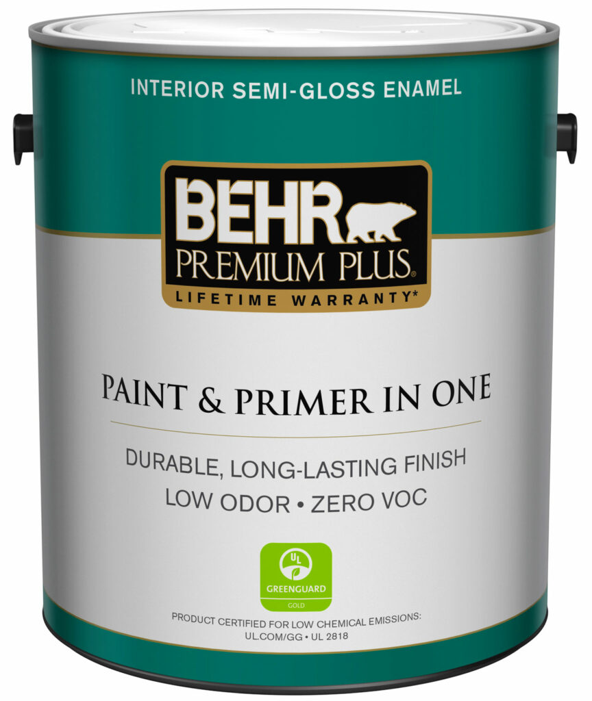 BEHR PREMIUM PLUS® Interior is a durable, long-lasting, zero VOC (<5g/L) paint that stands up to everything life throws at it. It seals surfaces to create a scrubbable finish that resists mildew, stains and moisture. BEHR PREMIUM PLUS® is a zero VOC (<5g/L) Paint & Primer in One that meets LEED® and GREENGUARD® GOLD requirements, offering indoor environmental air quality.