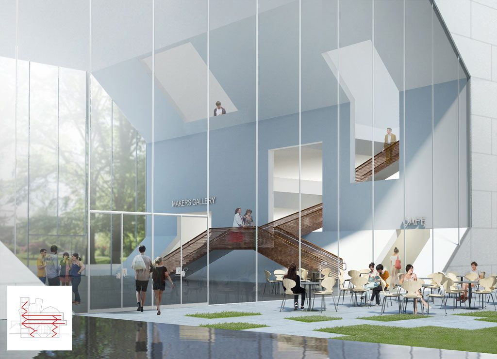 The Centre for Creative Design Forum. Courtesy of Steven Holl Architects