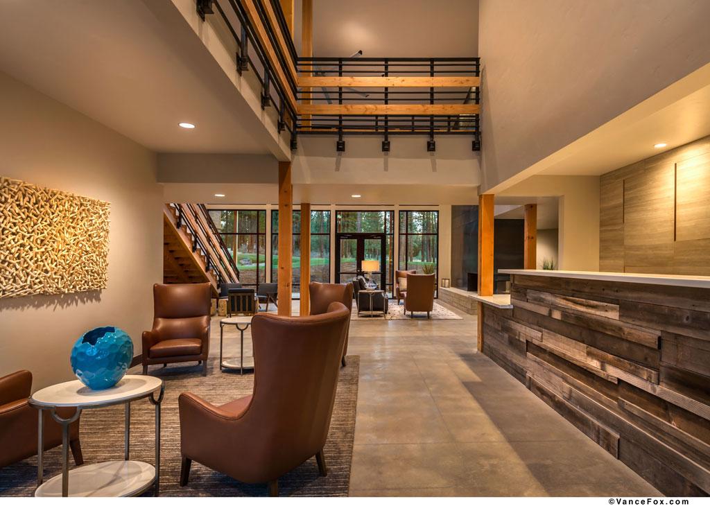 The Lodge at Nakoma, Frank Lloyd Wright Resort, Clio, Calif. Credit: Vance Fox Photography