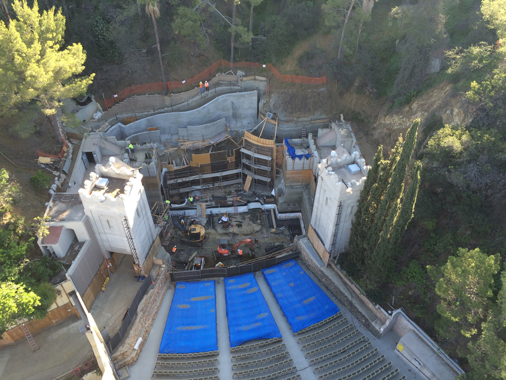 Ford Theaters Off-Season Improvements Phase 2 & 3 – Hollywood, California, United States. Owner: The Ford Theatres Foundation; Architectural Firm: Levin & Associates; Engineering Firm: Structural Focus; General and Concrete Contractor: Charles Pankow Builders, Ltd.; and Concrete Supplier: Cemex. Credit: American Concrete Institute
