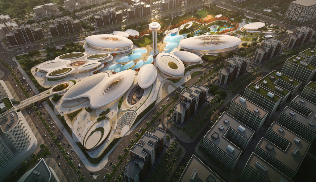 Zaha Hadid Architects-Designed Aljada's Central Hub to be completed early 2019