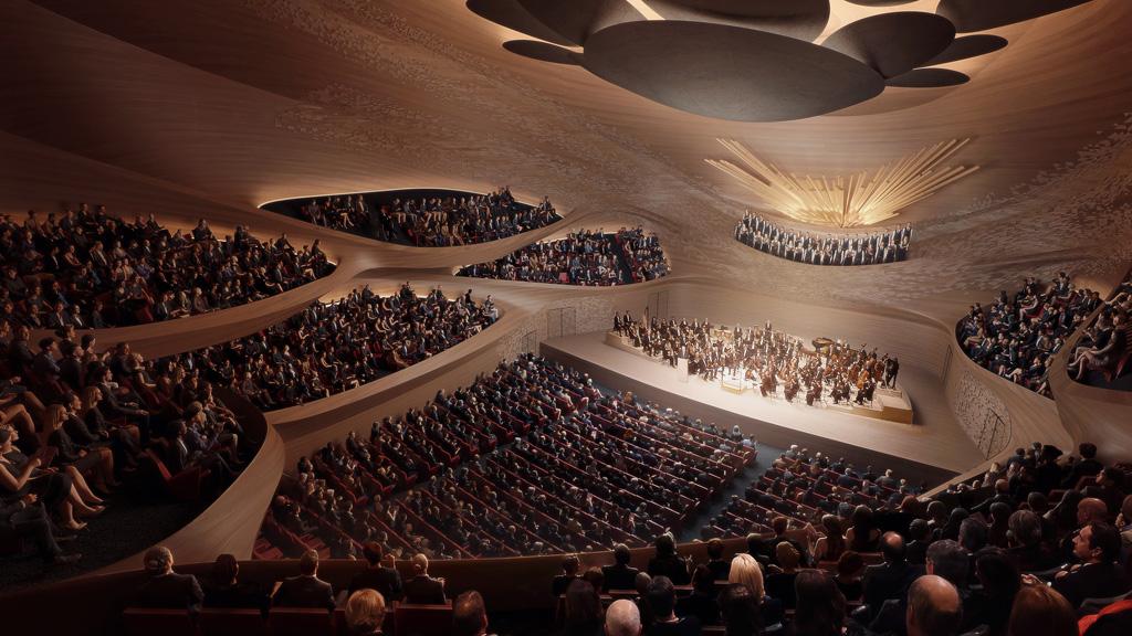 Sverdlovsk Philharmonic Concert Hall. Rendering by VA