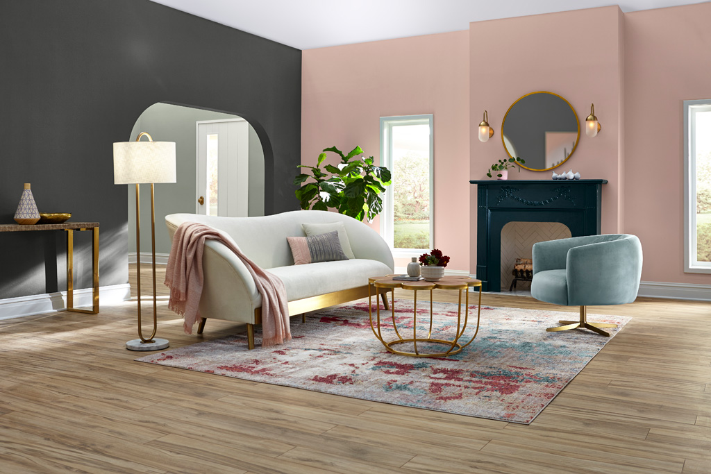 For those who look internally to retreat from the chaotic nature of everyday life to find a sense of calm and balance. The Everyday Balance Color Collection is inspired by soft natural elements. This palette includes Grizzle Gray (SW7068), Pure White (SW7005), Quaint Peche (SW6330), Interesting Aqua (SW6220), Borscht (SW7578), Filmy Green (SW6190), Dark Night (SW6237) and Believable Buff (SW6120).