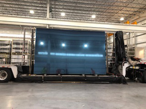 Guardian SunGuard® SuperNeutral® 68 HT on jumbo glass on trailer