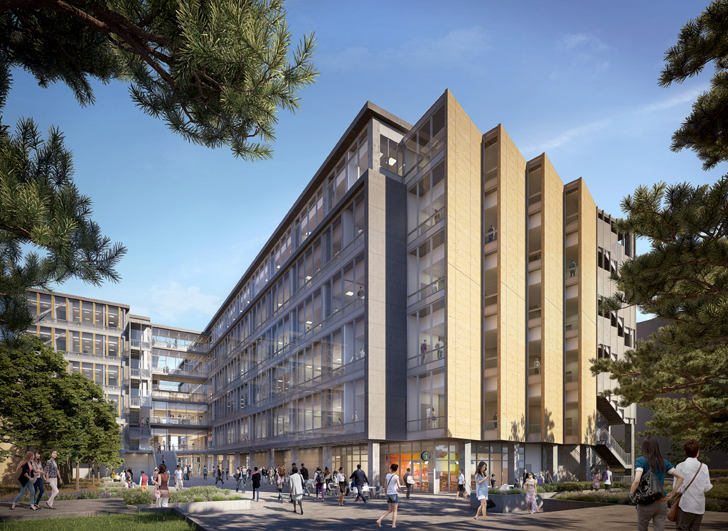 Rendering of the new Interdisciplinary Science and Engineering Building at the University of California, Irvine (UCI).
