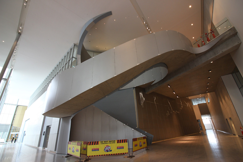 Royal Alberta Museum – Edmonton, Alberta, Canada. Owner, Architectural Firm, and Engineering Firm: DIALOG; General Contractor: Ledcor Design Build (Alberta) Inc.; Concrete Contractor: Pagnotta Industries Inc.; and Concrete Supplier: Lafarge Canada Inc. Credit: American Concrete Institute