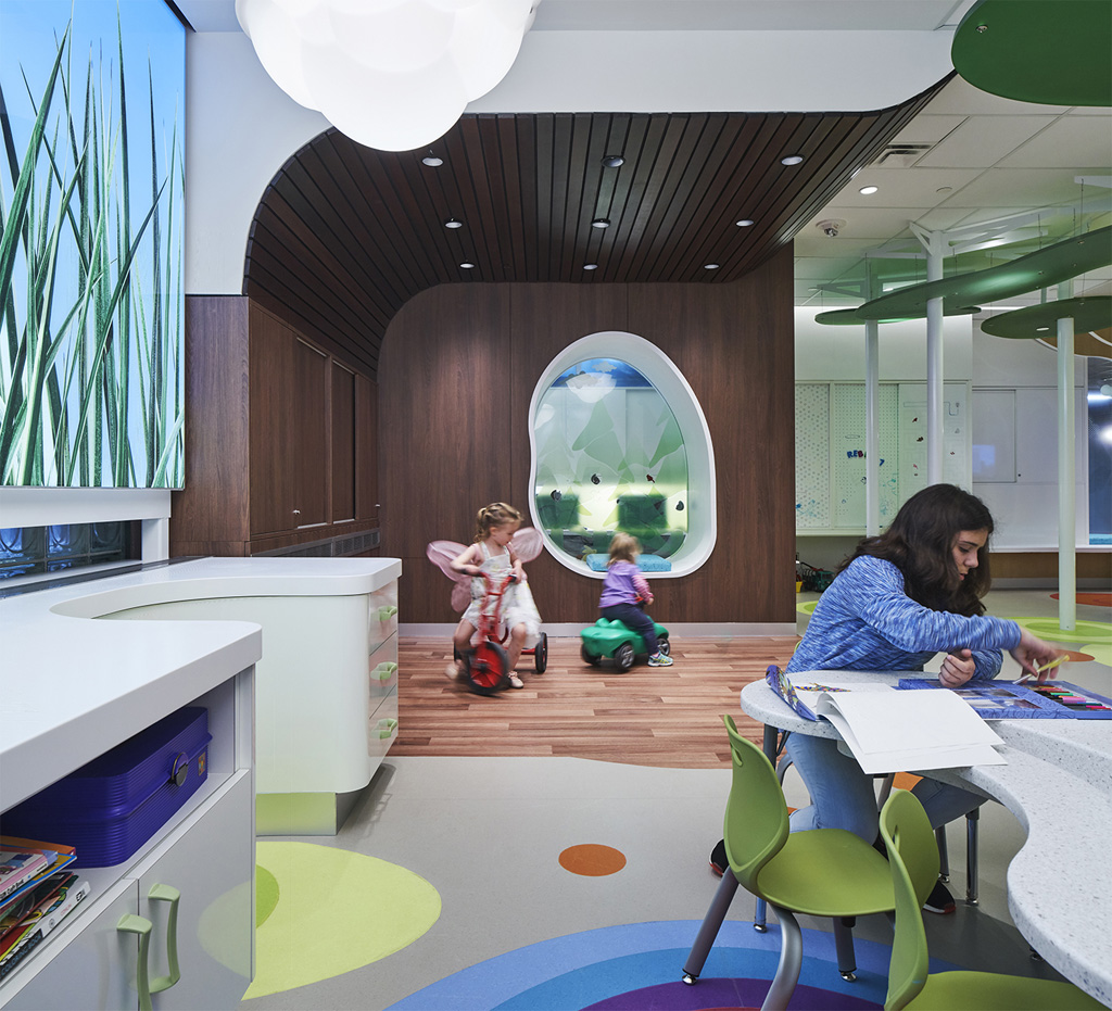 "When designing a children's space, ""don't just focus on technology. When designing for kids, we often tend to look at new technologies, such as interactive screens. But with this project, the focus was on play,"" said Olivera Sipka of the Women's Auxiliary Volunteers (WAV) PlayPark at SickKids Hospital project in Toronto. Photo credit: Richard Johnson"