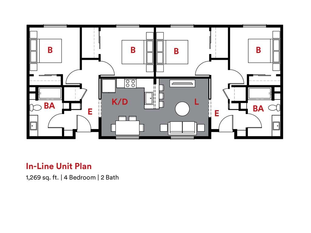 KTGY Co-Dwell In-Line Unit Plan