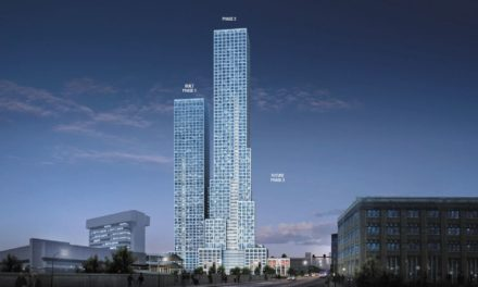 Construction begins on the tallest of the 'Journal Squared' Towers in Jersey City