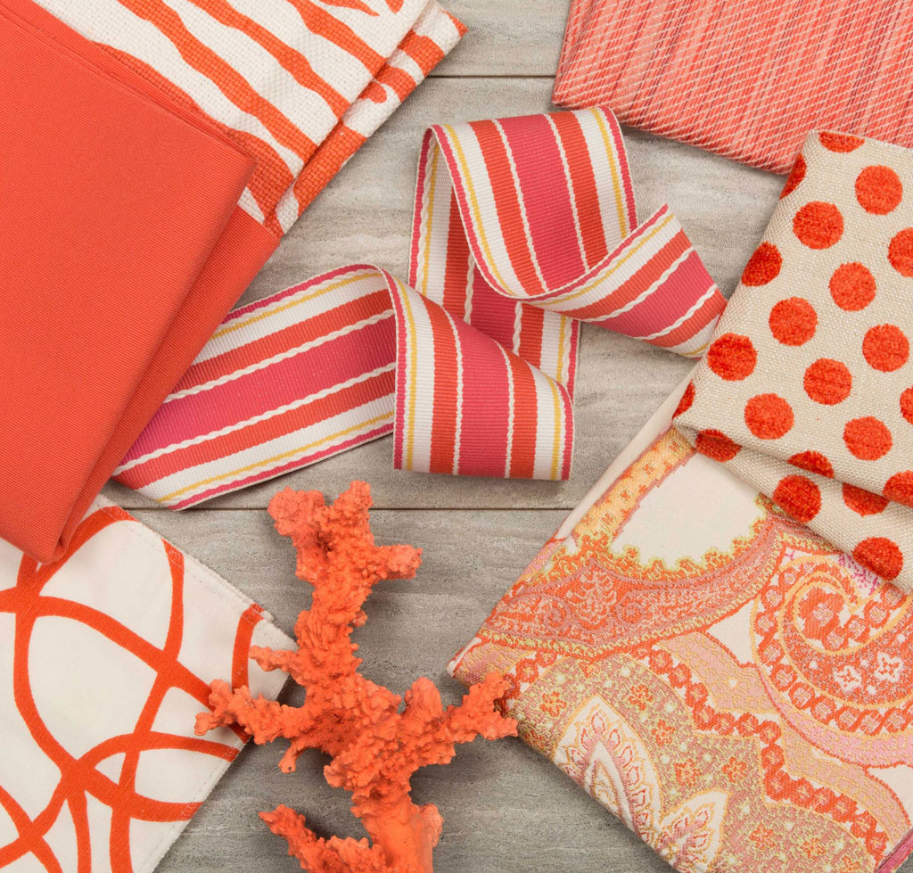 Kravet is an industry leader in to-the-trade fabric and furnishings, offering a wide range of colors, patterns and textures in every design style. Courtesy of Pantone