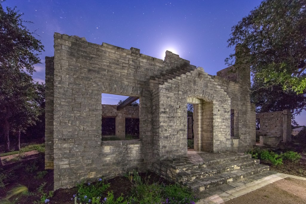 The original ranch home is preserved as part of Headwaters' Homestead Park, which also includes the Star-Gazing Amphitheater. Photo by Freehold Communities