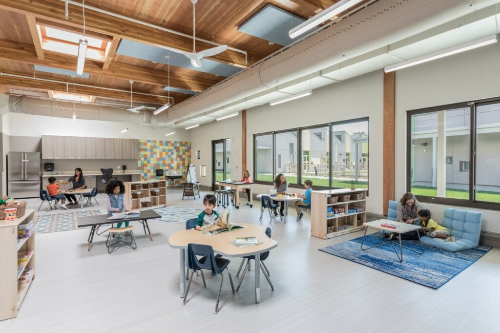 Genentech Child Care Center/Perkins+Will and Genentech. Photo credit: © Emily Hagopian, courtesy of Perkins+Will
