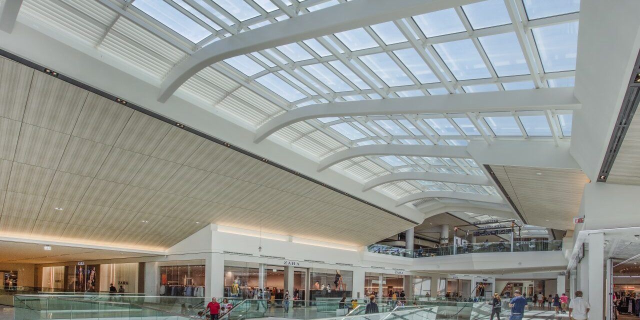Florida's Aventura Mall's new wing offers sunlit experience thanks to Super Sky skylight finished by Linetec