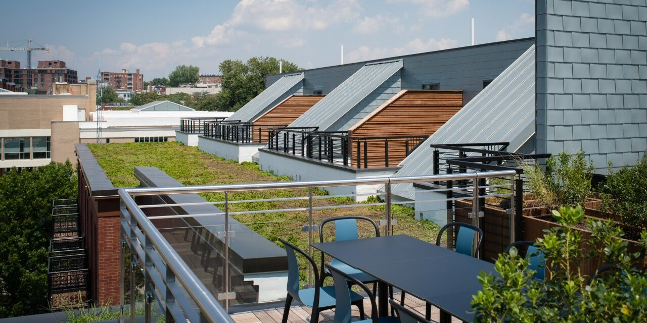 RHEINZINK panels highlight rooftop area of high-end, D.C. apartment building