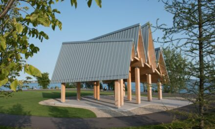 Canadian waterfront trail pavilion features RHEINZINK panels