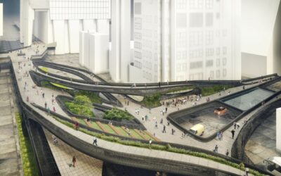 Conceptual design for pedestrian path would link Moynihan Train hall with newly developed Hudson Yards