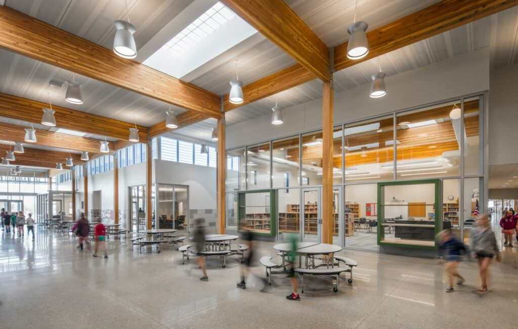 Wisner-Pilger Public Schools Addition/BVH Architecture. Photo credit: A.J. Brown
