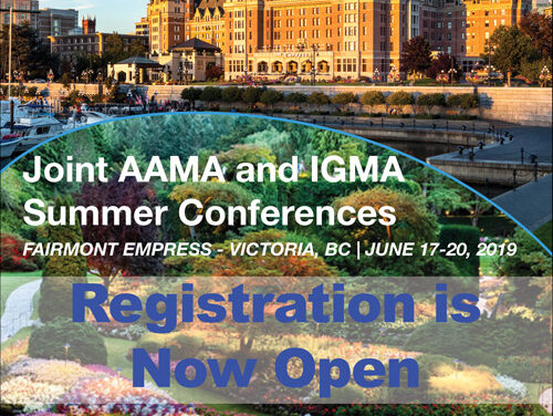 2019 Joint AAMA and IGMA Summer Conferences