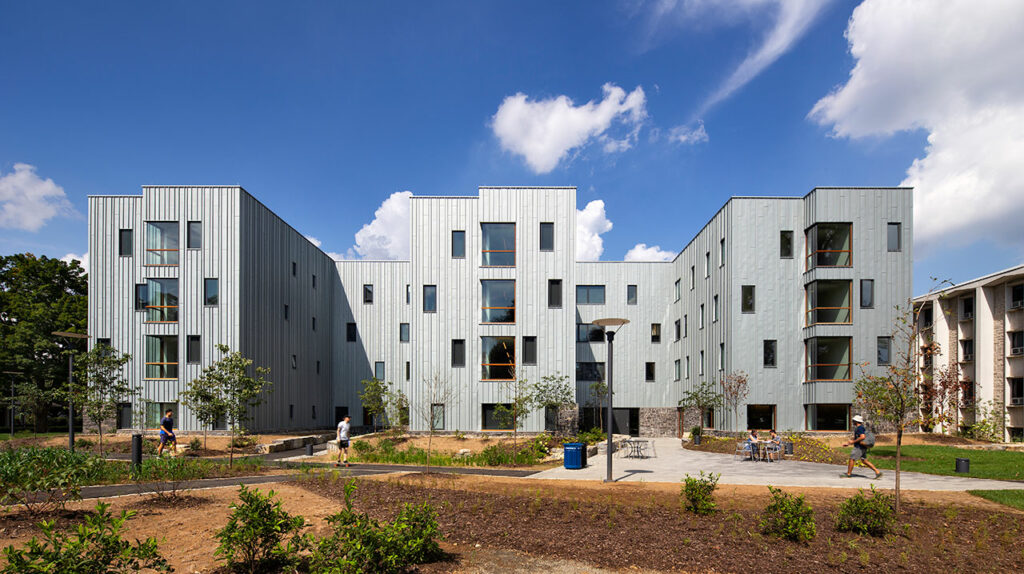 New High Street Residence Hall at Dickinson College in Carlisle, Pa. Photo by Chris Cooper, courtesy of RHEINZINK