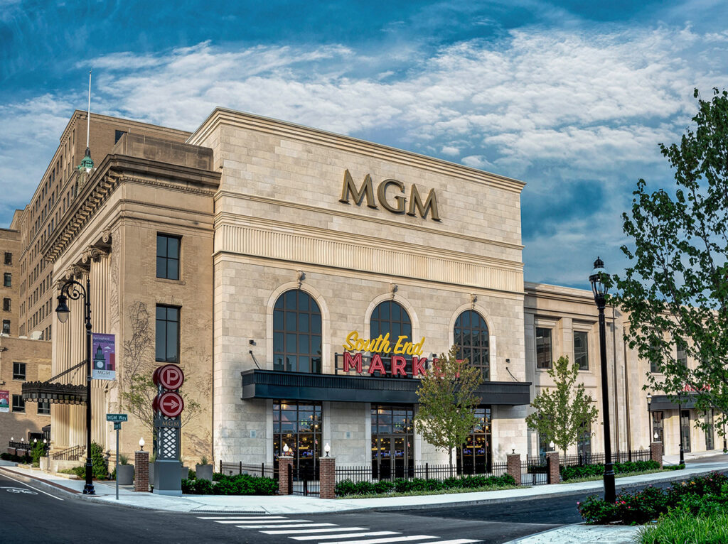 MGM Springfield - South End Market Entrance. Courtesy of MGM Springfield