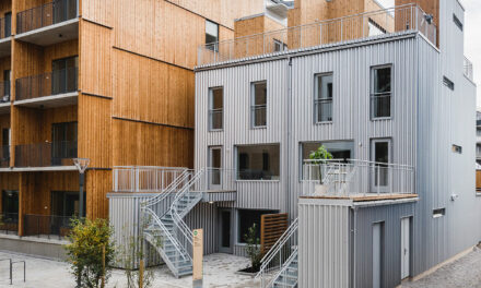"""Lilla lntegralen"" building with distinct façade made from GreenCoat® steel nominated for Platpriset 2019"
