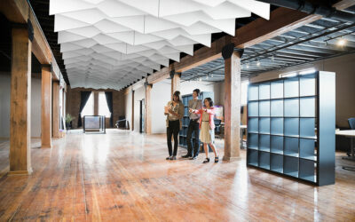 Ecophon Solo Baffles and Clouds from CertainTeed unleash creative freedom for designers working on open spaces