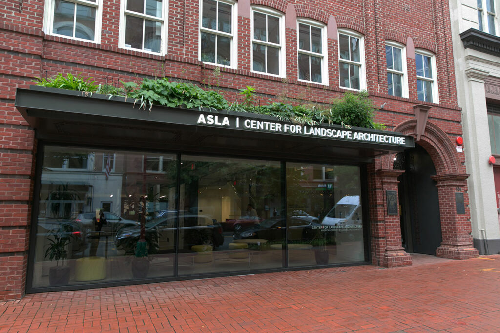 ASLA Center building front. Photo credit: Jen Morris/EPNAC