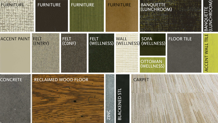 Materials palette. Credit: Gensler