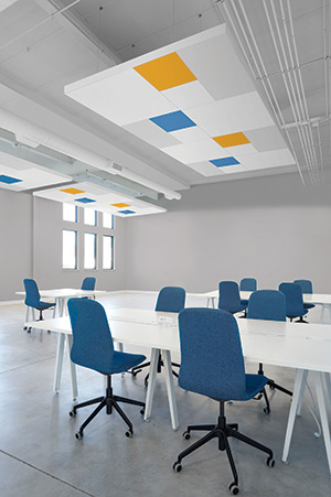 DESIGNFlex for FORMATIONS Acoustical Cloud. Courtesy of Armstrong Ceiling Solutions