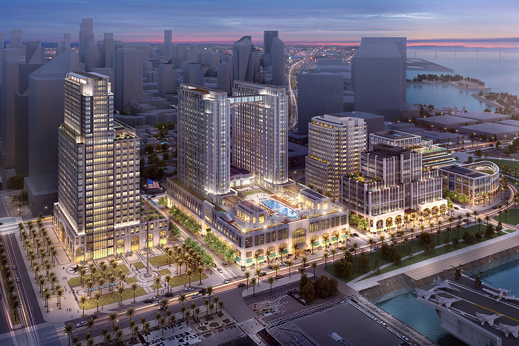Manchester Pacific Gateway project in San Diego. Rendering courtesy of Manchester Pacific Gateway