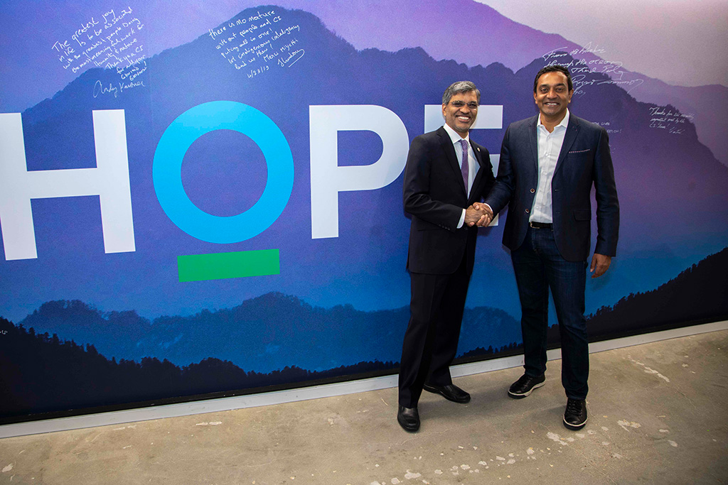 Left to right: USGBC President and CEO Mahesh Ramanujam and Conservation International CEO Dr. M. Sanjayan.