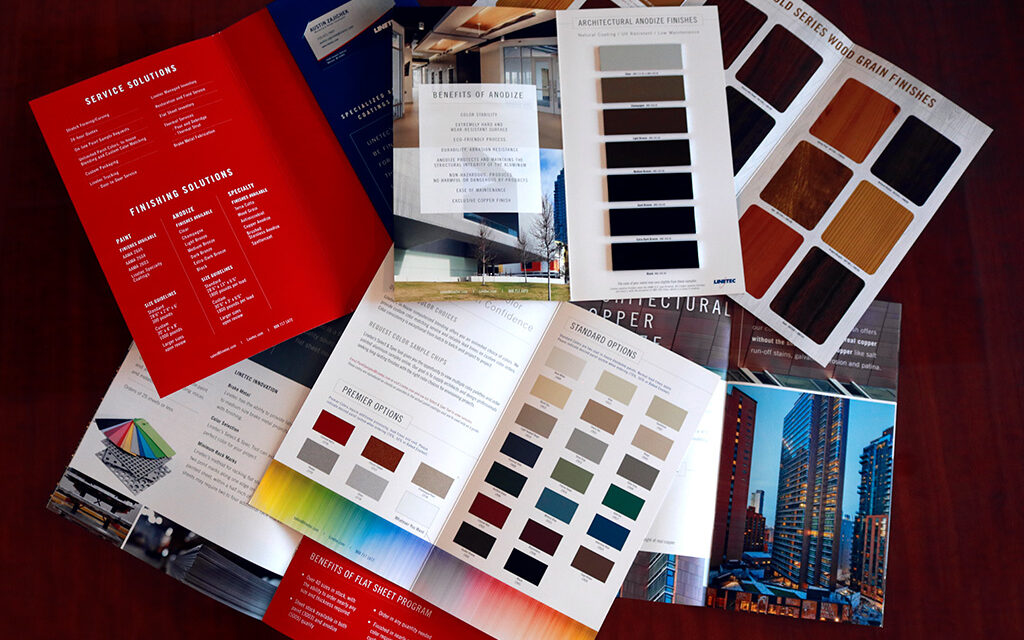 Linetec publishes five brochures on its expanded capabilities and its anodize, paint and specialty finishing services