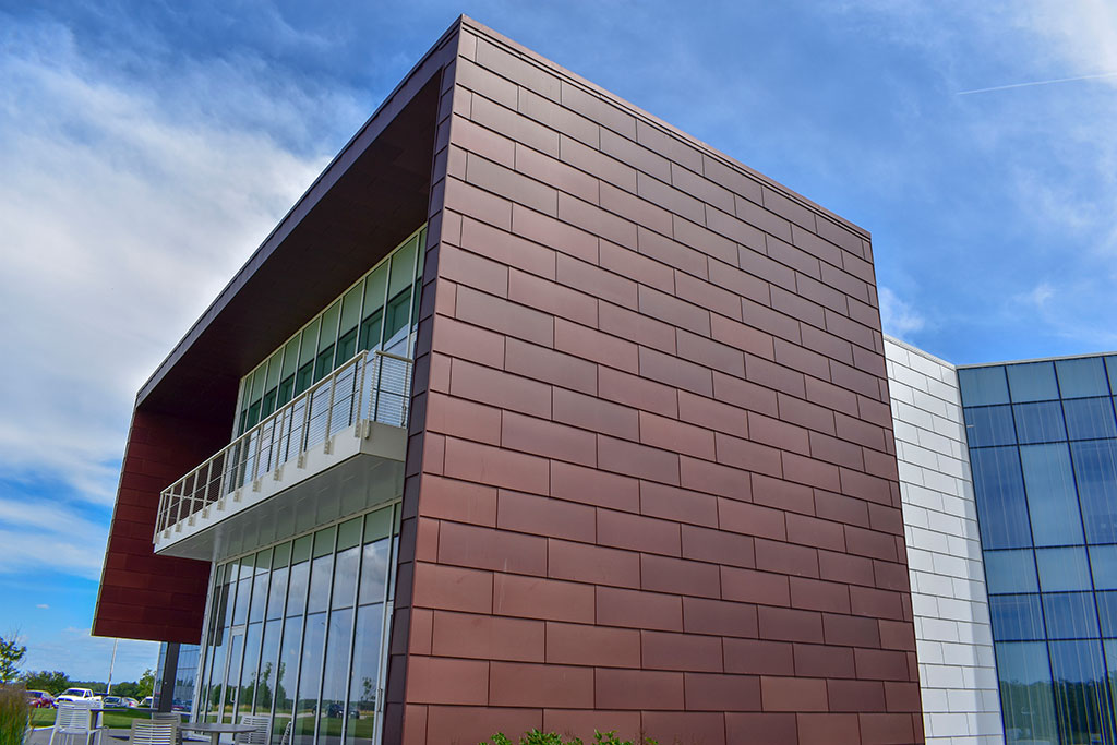 Linetec's Bordeaux Anodize. Courtesy of Metal Design Systems and Linetec