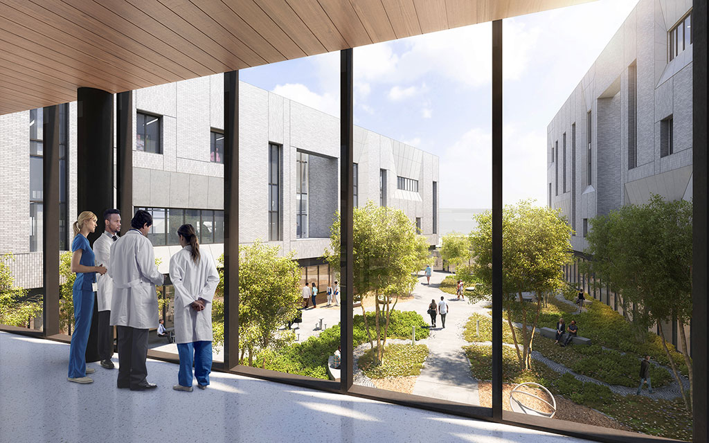 University of Texas Health Continuum of Care Campus for Behavioral Health in Houston. Courtesy of Perkins+Will