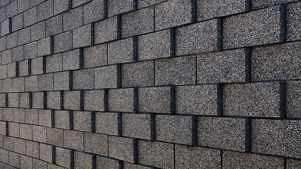 Close-up of Baxter Parametric CMU Wall, photo by Ehrlich Yanai Rhee Chaney Architects, 2019