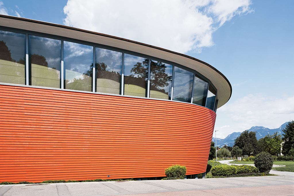 StoColor® Dryonic® on building façade. Photo courtesy of Sto Corp.