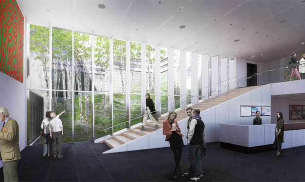 The Bruce Museum design vision led by EskewDumezRipple, celebrates the geology of New England