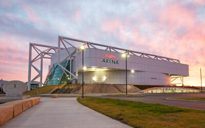 HyVee Arena's modern sports complex repurposes historic building, with high-performance, custom-color finishes and thermal improvement