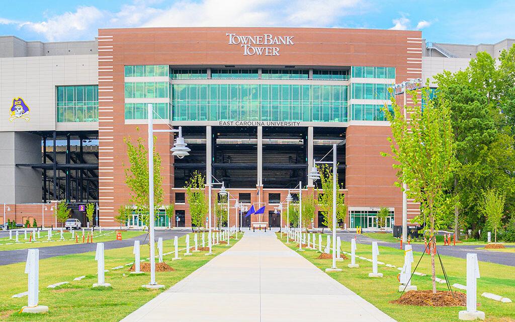 East Carolina University renovates, expands football stadium with Tubelite's doors, windows, curtainwall and storefront