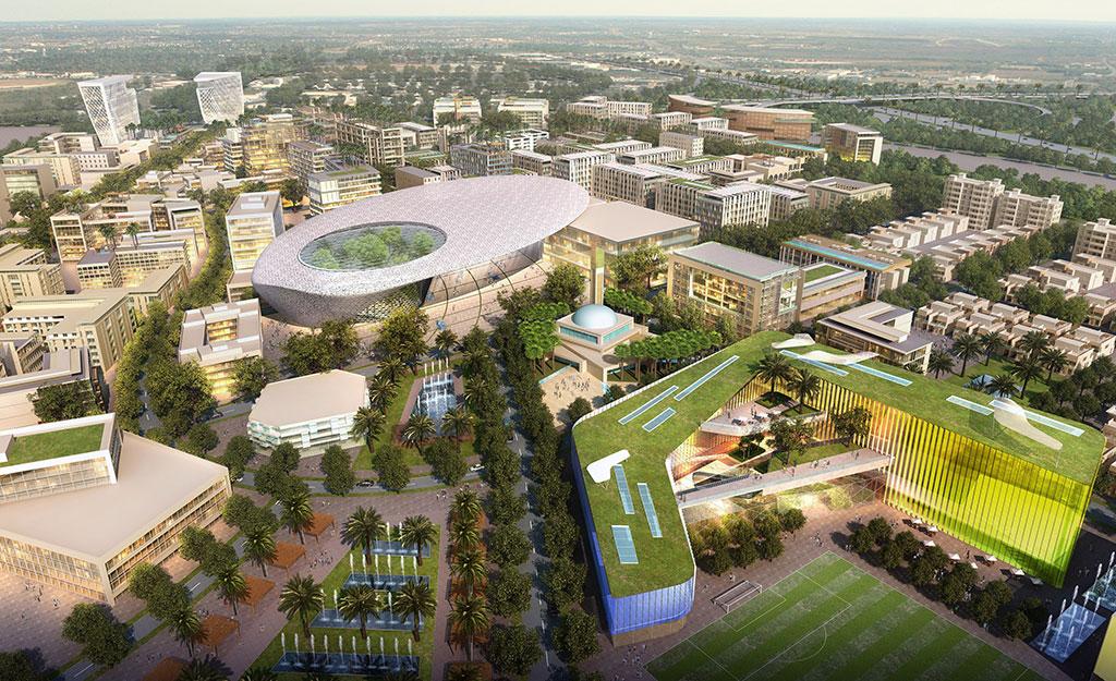 Dubai South Masterplan, United Arab Emirates, where walkability is an important focus.