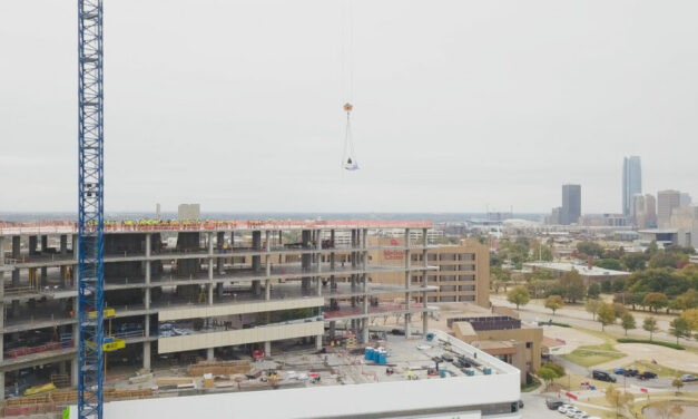 Oklahoma's largest hospital expansion project and economic driver reaches construction milestone