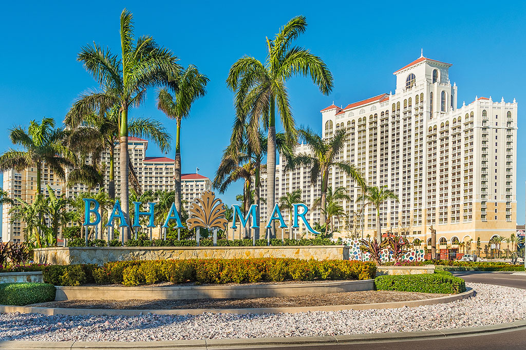 Entrance to the Baha Mar Resort & Casino on the island of New Providence in the Bahamas. Photo credit: Hyatt