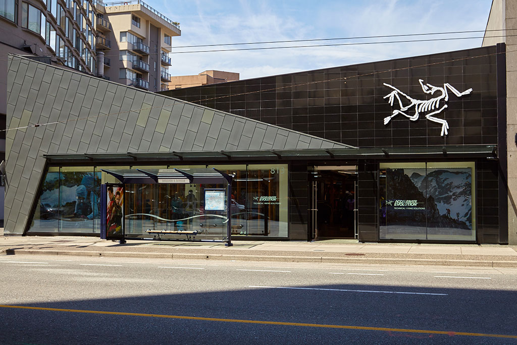 After photo of the Arc'teryx store. Photo credit: Martin Knowles, courtesy of RHEINZINK