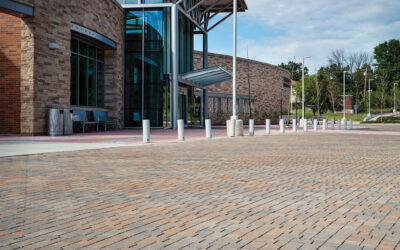 Elkridge Library/DIY Center parking area selects Belgard's Aqualine® permeable pavers as project attains LEED® Gold certification