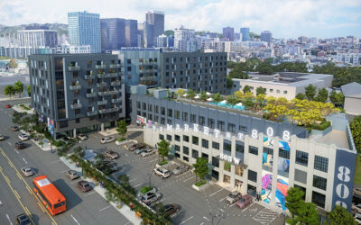 KTGY Architecture + Planning combines historic garage with new mixed-use design