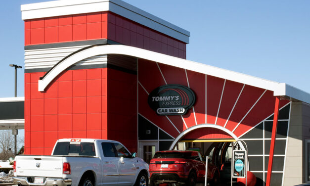 Linetec helps Tommy's Express attract attention in Wisconsin with bright red finishes