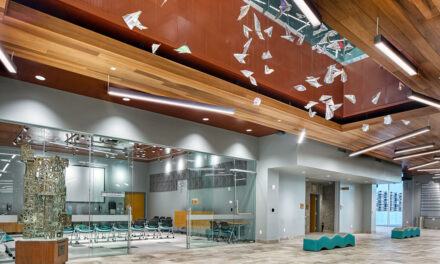 Rockfon metal ceilings create a collaborative learning environment for Wichita Public Library