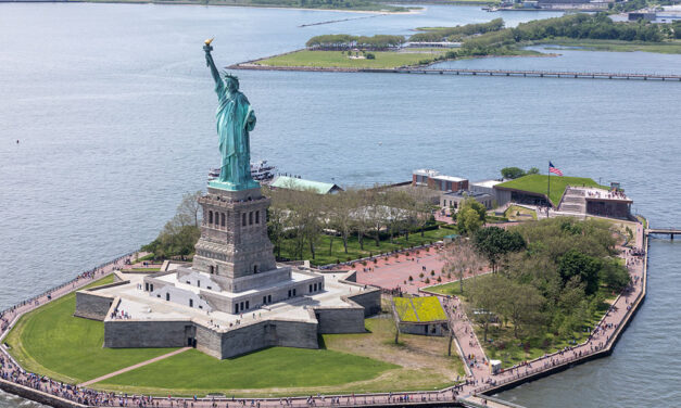The Statue of Liberty Museum, designed by FXCollaborative, achieves LEED Gold certification