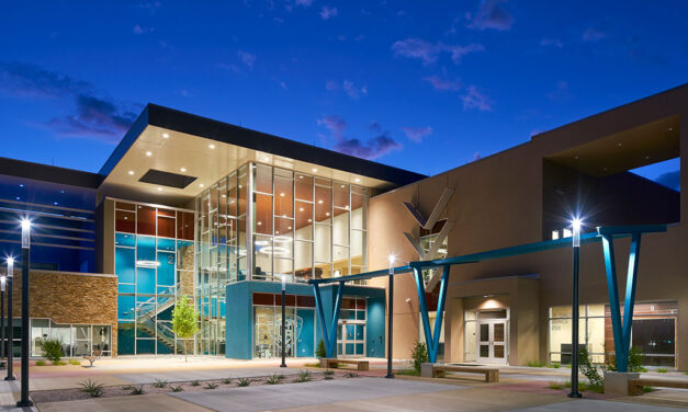 Navajo Tribal Utility Authority's office blends Tubelite's modern, high-performance systems with traditional, culturally inspired design