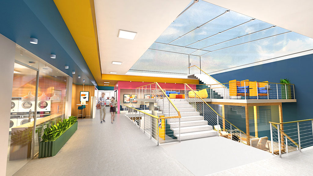 """Sherwin-Williams 2020 Student Design Challenge first place winner in the commercial category: Andre Silvestre, Suffolk University, """"Boston Intergenerational Community Center."""""""